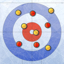 Sport. Curling Stones On Ice. ...