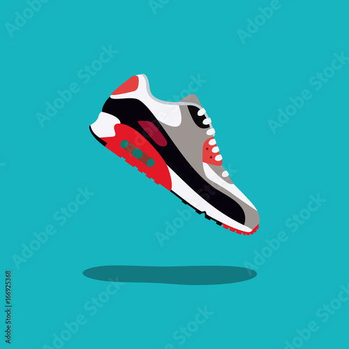 Photo  Original sneakers vector illustration