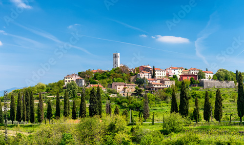 Oprtalj - idyllic small town on a hill in central Istria Canvas Print