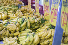 Stall Of Bananas In Typical Brazilian Open-air Market