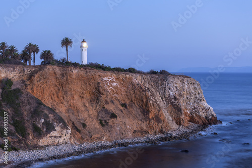 Staande foto Los Angeles Night view of Point Vincente in Rancho Palos Verdes, California.