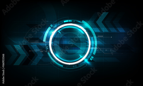Fototapeta Abstract futuristic electronic circuit technology background, vector illustration obraz