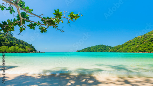 Deurstickers Tropical strand Beautiful tropical beach located Surin island, Thailand