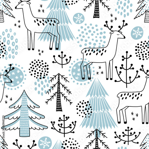 Christmass seamless vector pattern
