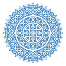 Mongolian Traditional Ornaments. This Round Ornaments Were Created By Mongolian Traditions. If You Want To Use This Awesome Design Element, It Would Be The Best Choice.