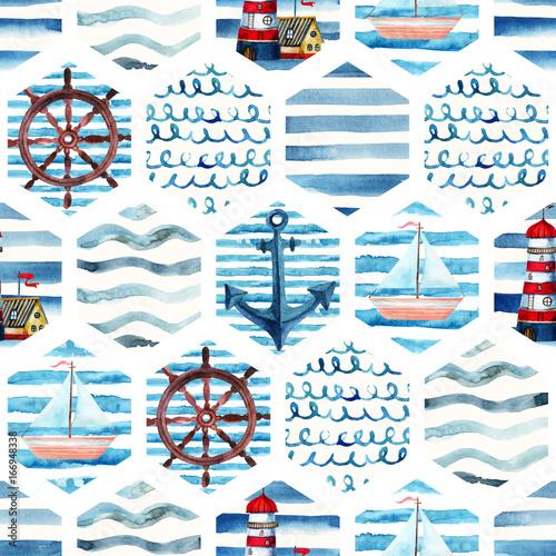 przygoda-akwarela-powielany-wzor-w-stylu-morskim-patchwork