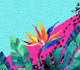 Abstract tropical summer design in minimal style. - 166950312