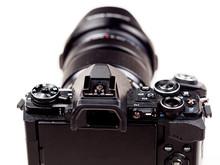 Mirrorless Classic Retro Modern Camera With Lens
