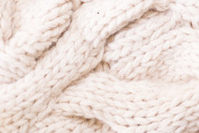 Knitted Fabric Wool Texture Cl...