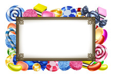 Candy Sweets Background Frame ...