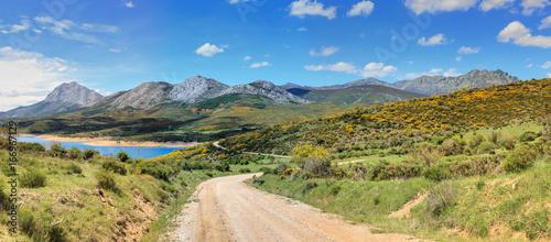 Mountain Palentina. Spain. Curavacas and Espigüete peaks.