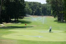 Irrigazione Di Un Campo Da Golf