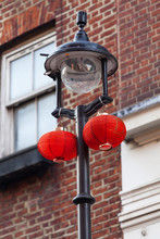Red Lanterns In China District, Chinatown, London, United Kingdom