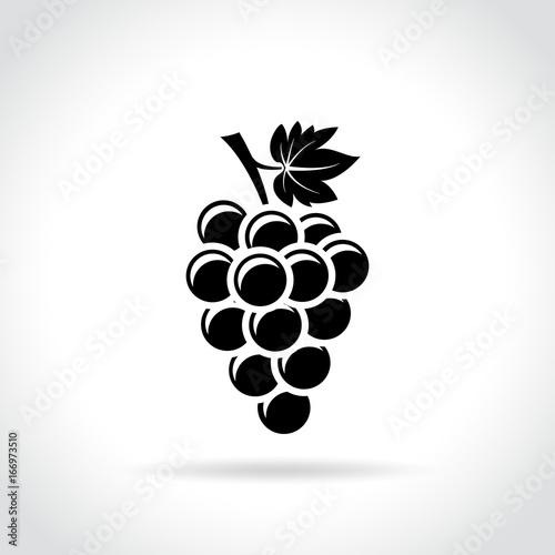 grapes icon on white background Fototapete