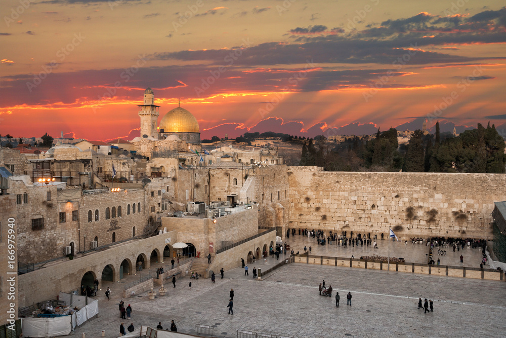 d7a0cd915 Fototapety, obrazy: The Western Wall at the Temple Mount in Jerusalem,  Israel
