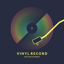 Poster Of The Vinyl Record. Ve...