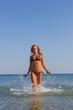 Woman having fun the the sea