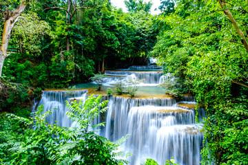 Fototapeta Wodospad waterfall kanchanaburi thailand