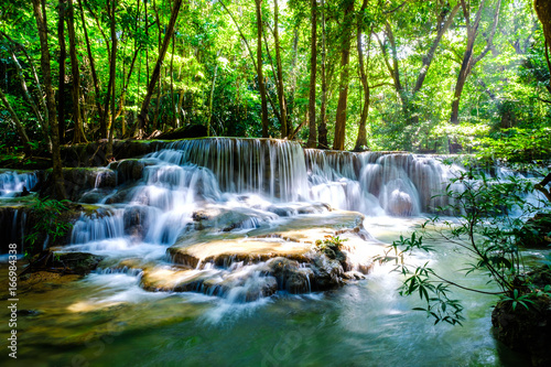 Poster Watervallen waterfall kanchanaburi thailand