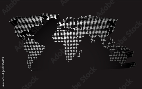 Abstract 3d world map made up of small white dots buy this stock abstract 3d world map made up of small white dots gumiabroncs Choice Image