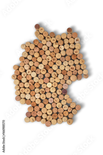 Wine-producing countries - maps from wine corks Canvas-taulu