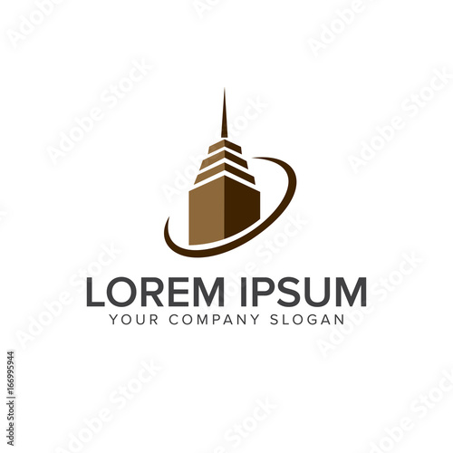 Building Logo Design Concept Template Architectural Construction