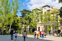 Botanical Garden In Madrid, Sp...