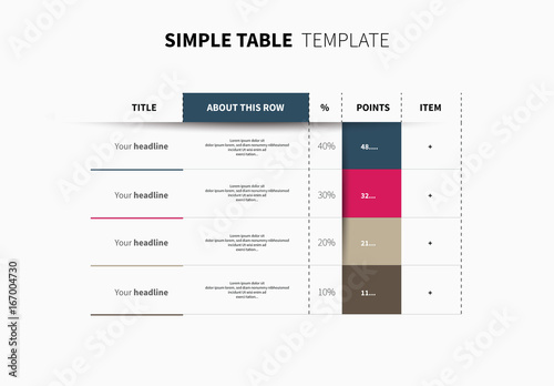 infographic table layout 1  buy this stock template and