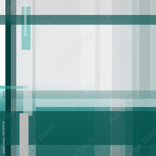 Emerald Flyer Template | Square Geometric Background Abstract Strip Pattern Light Gray And