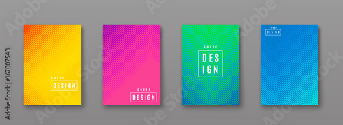 Vector illustration of bright color abstract pattern with line gradient texture