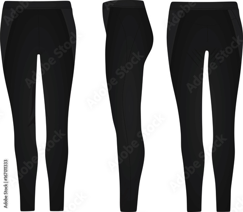 Obraz Women black pants. vector illustration - fototapety do salonu