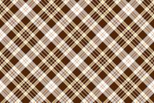 Check Brown Beige Textile Seamless Pattern