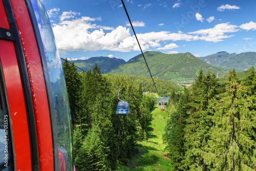 Cablecars in mountain resort Malino Brdo, Slovakia
