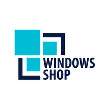 Logo Windows Store. Installer Company. Vector Illustration.