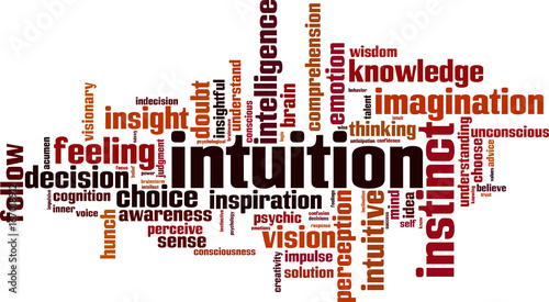 Intuition word cloud Canvas Print