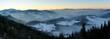 Winterlandschaft Panorama in den Bergen