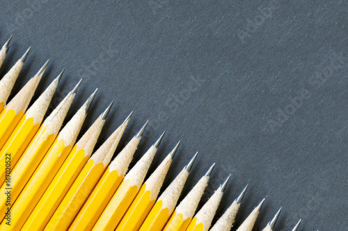 Photo angle pencil black background
