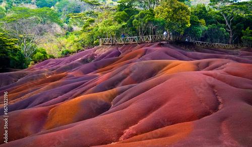 Fotografie, Obraz Seven colored earths in Mauritius