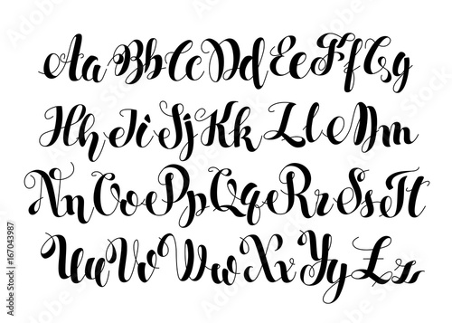 Handwritten Calligraphy Symbols  Black and white lettering