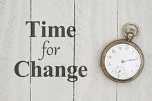 Time For Change Message With R...