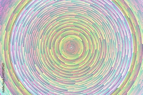 Spirale de cercles colorés