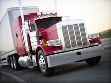 Generic Semi Truck Hauling Car...