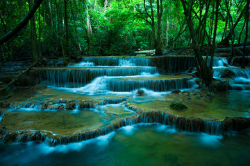 Obraz na Szkle hauy mae kamin waterfalls in kanchaburi thailand