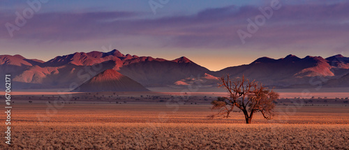 Poster Afrique Beautiful landscape photographed in the Namib Rand Reserve National park