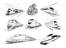 Metro Train Vector Sketches In...