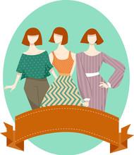 Girls Mannequin Vintage Dress Ribbon
