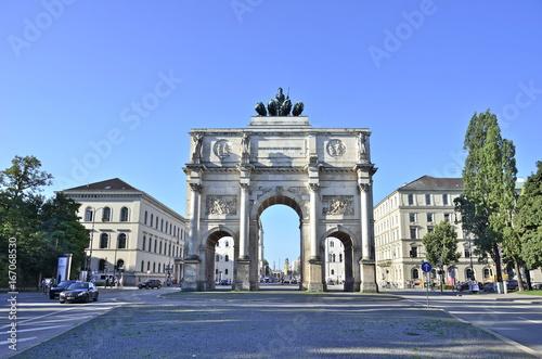 Canvas Prints Artistic monument Siegestor München