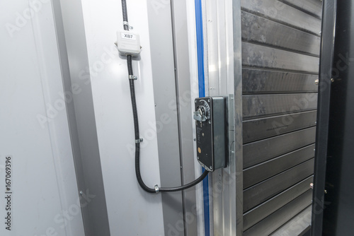Vászonkép  The ventilation louver with the actuator