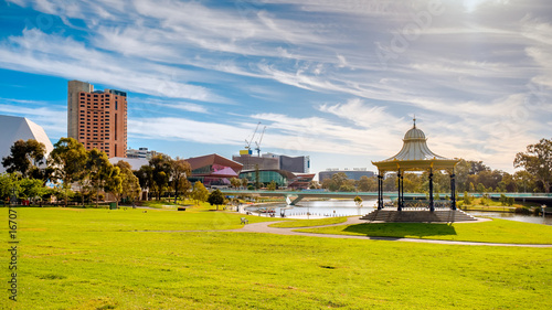 Photo Adelaide city skyline on a day