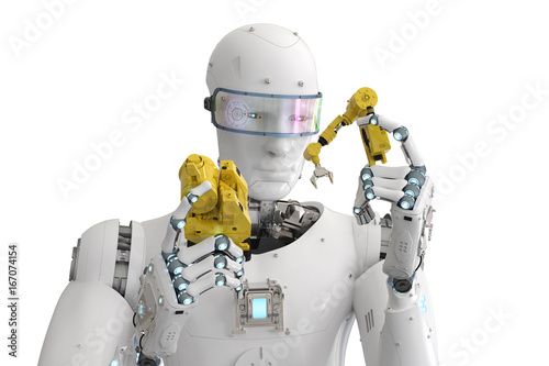 robot build robot arm Canvas Print